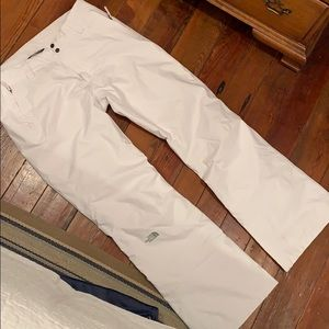 North face white womens snow pants